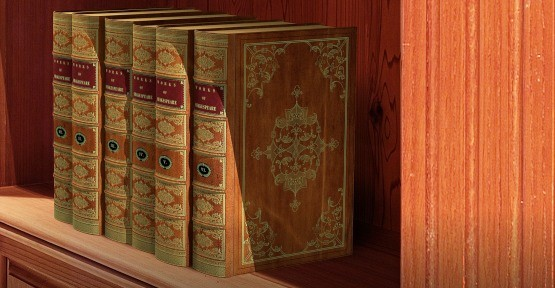 Replica Book Panels Antique Spines labels
